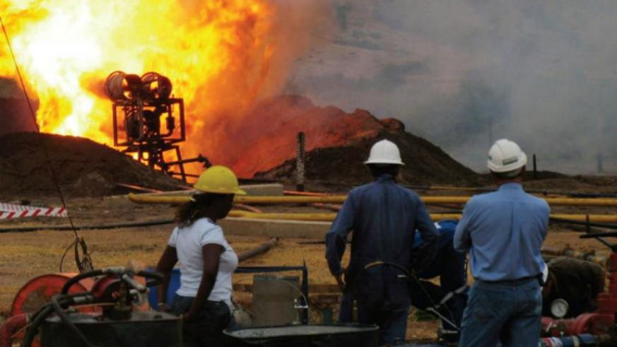 Oil exploration in Uganda. There is a need for laws that will ensure that money from minerals supports regional development and the welfare of host communities and governments. (Internet photo)