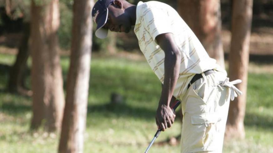 Rwanda number two pro golfer Ruterana, seen here in a past local event, wants a share of Uganda Open prize money. (File photo)