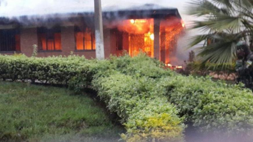 Part of the health center which was destroyed by fire. (Jean d'Amour Mbonyinshuti)