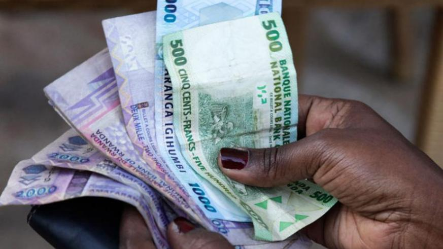 Depreciation of Rwandan franc against the USD is mainly related to the disequilibrium in the country's balance of payment. (File).