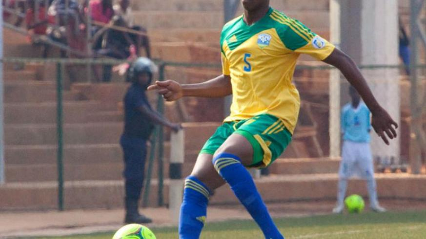 Defender Emery Bayisenge is one of the players that Constatine will rely on for next year's CHAN championship. (T. Kisambira)