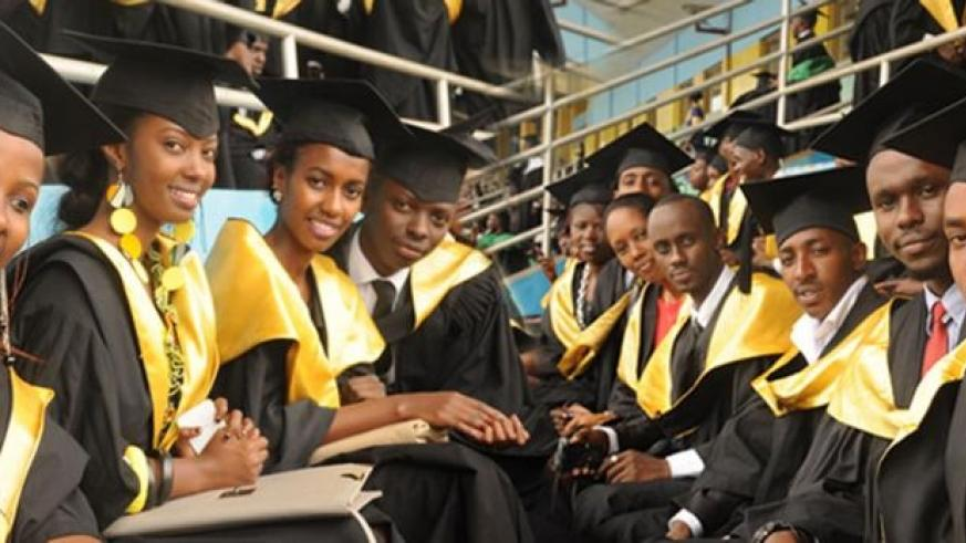 University of Rwanda graduates. Rwanda could be an ideal location for students from other countries pursuing higher education. (File)