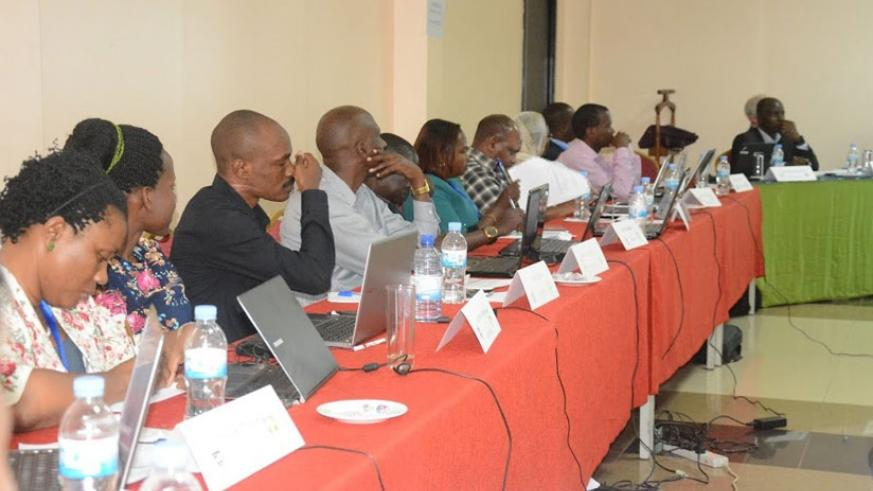 Some of the revenue officers who attended the workshop last week. (Eddie Nsabimana)
