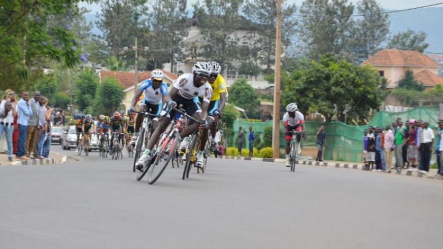 Team Rwanda cyclists during the Tour du Rwanda race in 2014. (File)