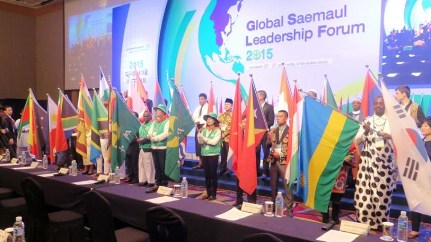 Rwandan officials joined other worlds leaders for the 2015 Global Saemaul Leadership Forum in South Korea this week. (Courtesy)