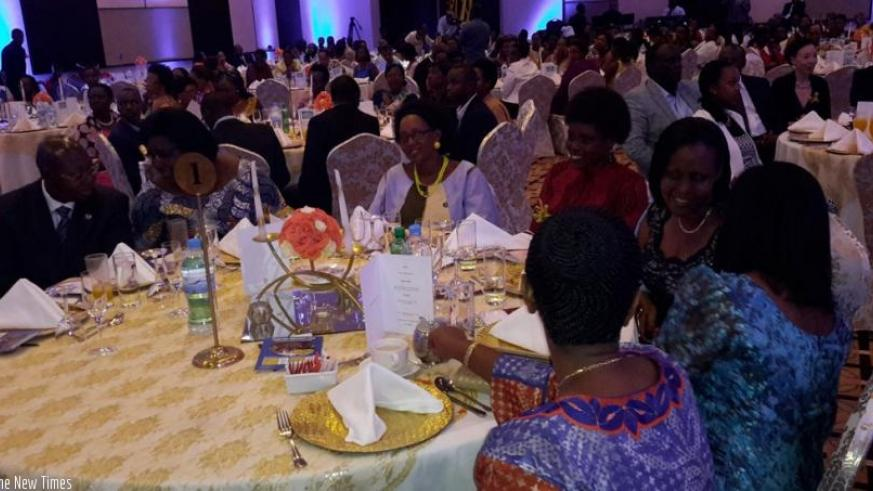 Private, Government, local and International organisations participated in the  fundraising event to raise funds for the completion of women leadership  centre of excellence. (Frederic Byumvuhore)