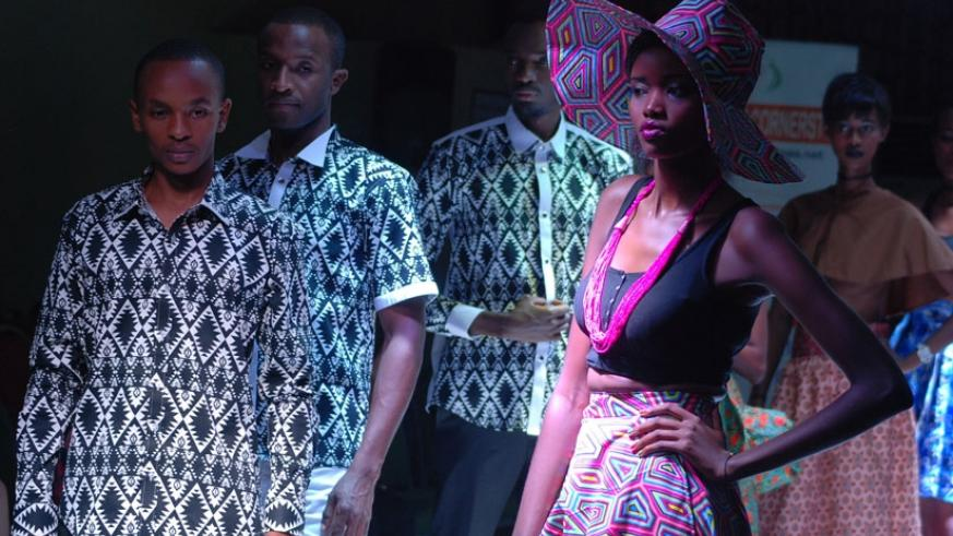 African print featured most during the fashion show. (Stephen Kalimba)