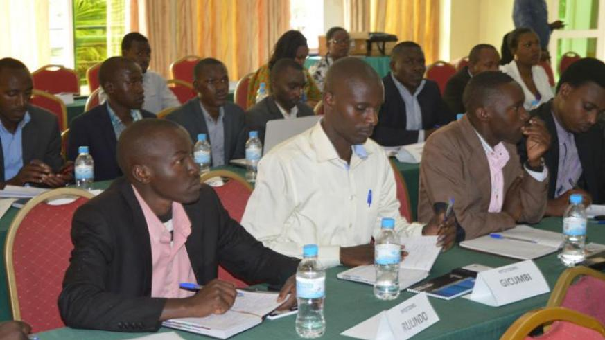 Youth coordinators during the meeting in Kigali, last week. (Theogene Nsengimana)
