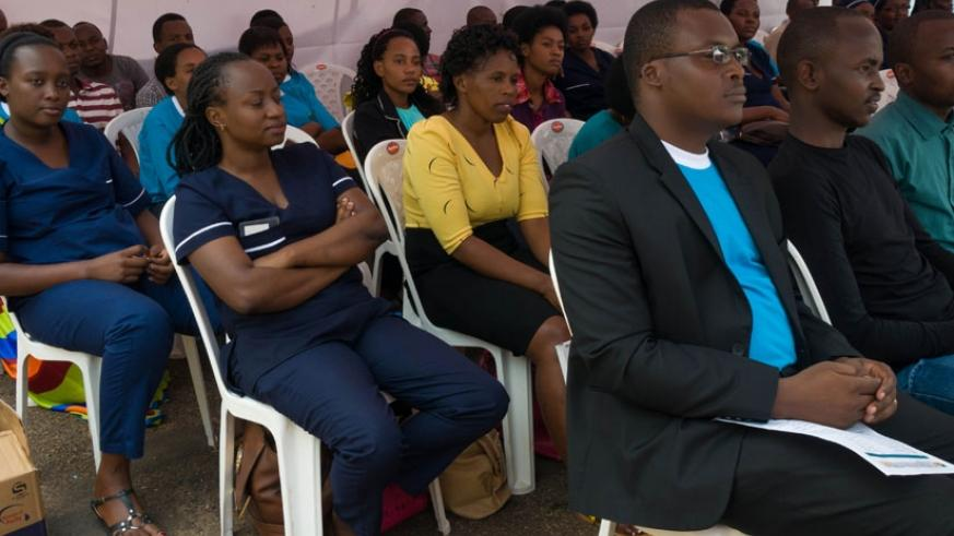 Some of the participants follow proceedings at the event. (Teddy Kamanzi)