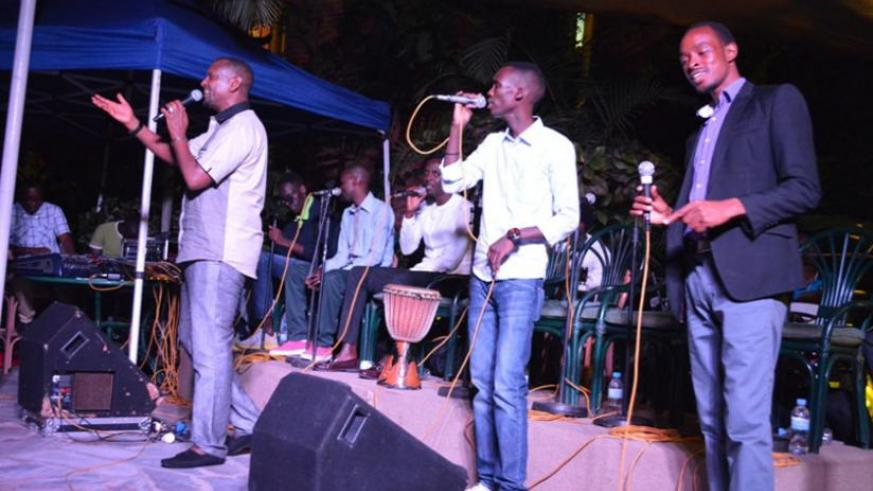 The group thrilled the fans with some of the traditional music. (Julius Bizimungu)