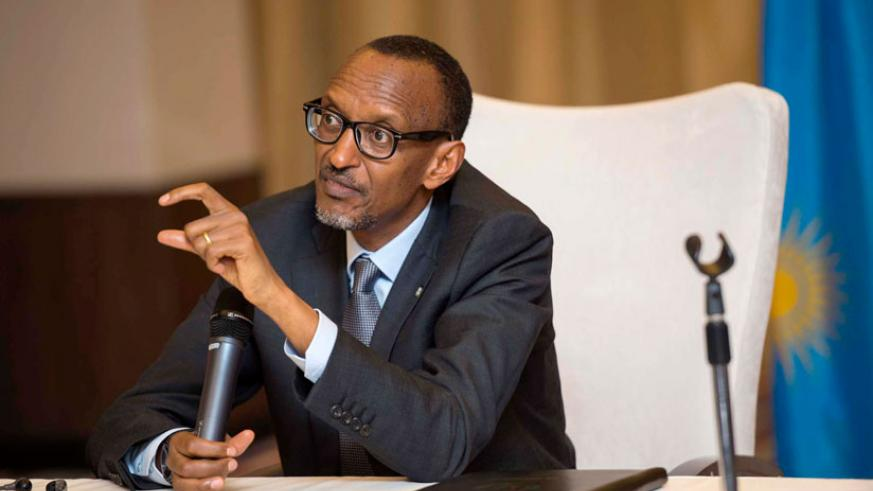 President Kagame responds to questions from journalists at a post-World Economic Forum on Africa news conference in Kigali yesterday. Kagame has said that emerging economies ought ....