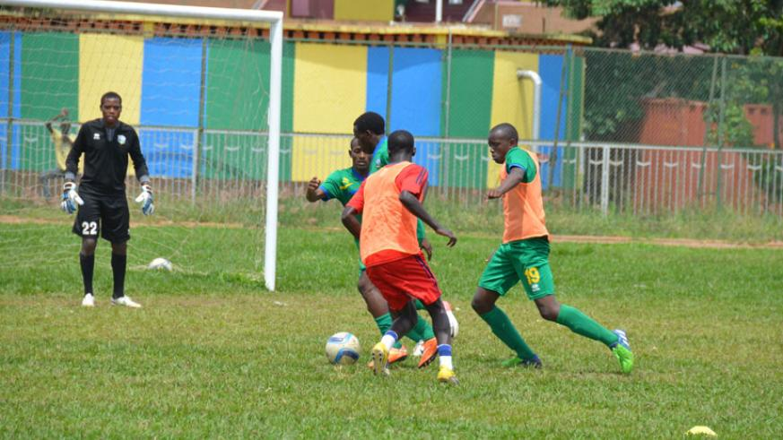 U-20 players during training last month. The team has entered residential training ahead of their tie against Egypt on Saturday. (Sam Ngendahimana)