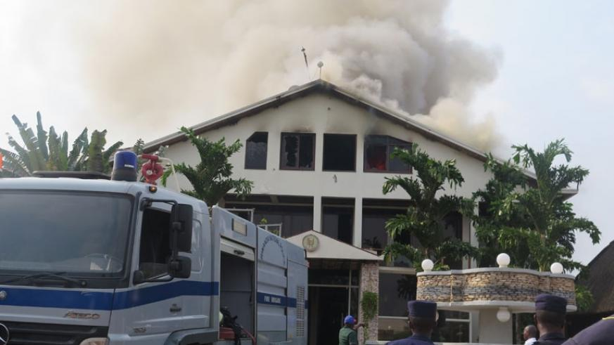 Luxury Hotel in Kimironko Gasabo was engulfed by fire last year. Insurance penetration in Rwanda is still low and below the continental average of 2.8%. (File)