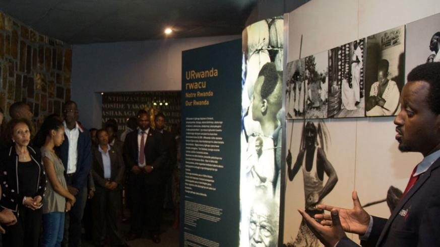 Some of the foreign delegates who were in Kigali for the just-concluded World Economic Forum on Africa during a tour of the Kigali Genocide Memorial Centre. (File)