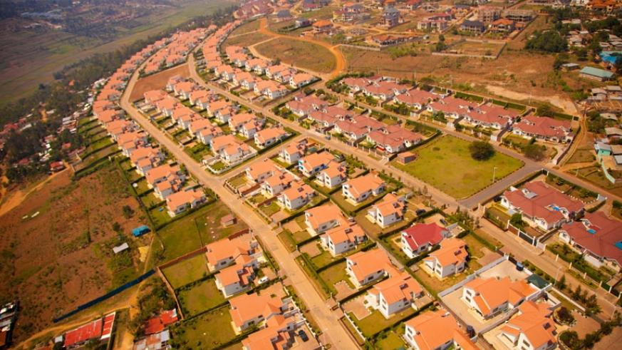 An aerial view of Umucyo Estate in Gaculiro,  Gasabo District, Kigali. (File)