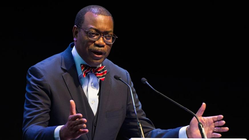 AfDB President Dr. Adesina Akinwumi speaks at the opening ceremony of the 51st Annual Meeting of the African Development Bank  in Lusaka. (Courtesy)