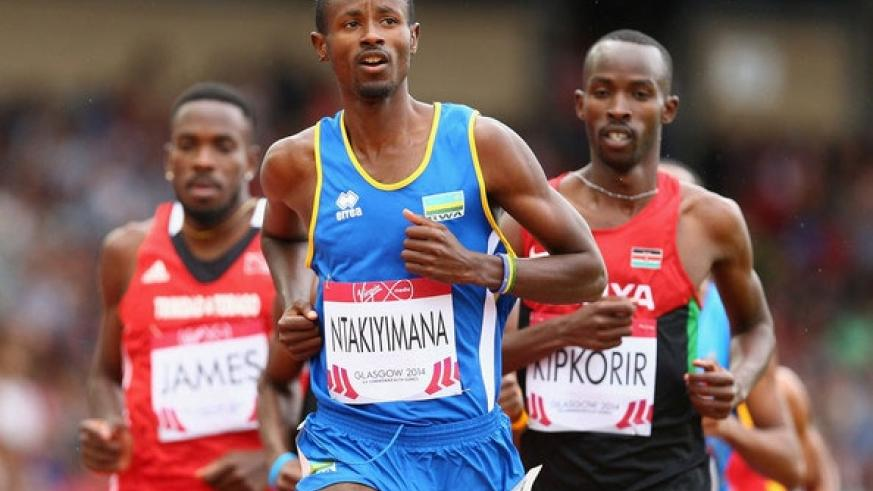 Ntakiyimana competes in the Men's 800 metre race during the Glasgow 2014 Commonwealth Games in Glasgow, United Kingdom. (Net photo)