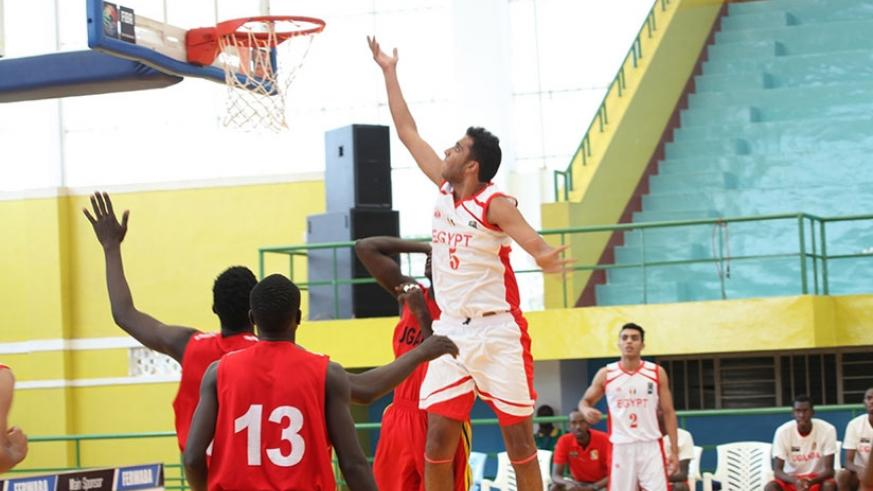 Egypt's center forward Seifeldini Elsandily scored 10 points and 3 rebounds as well as 3 assists in the 87-48 win over Uganda. / Courtesy