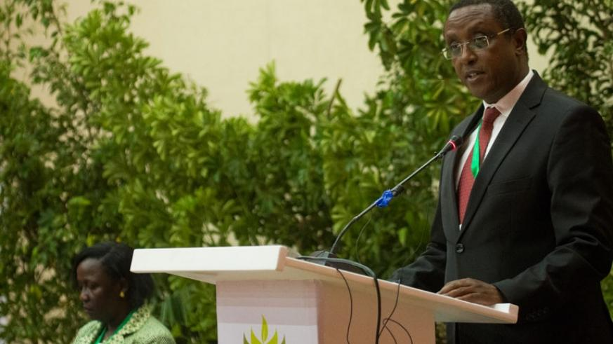 Dr Vincent Biruta, Minister for Natural Resources, said forest landscape restoration is not just a choice but a necessity. / Timothy Kisambira