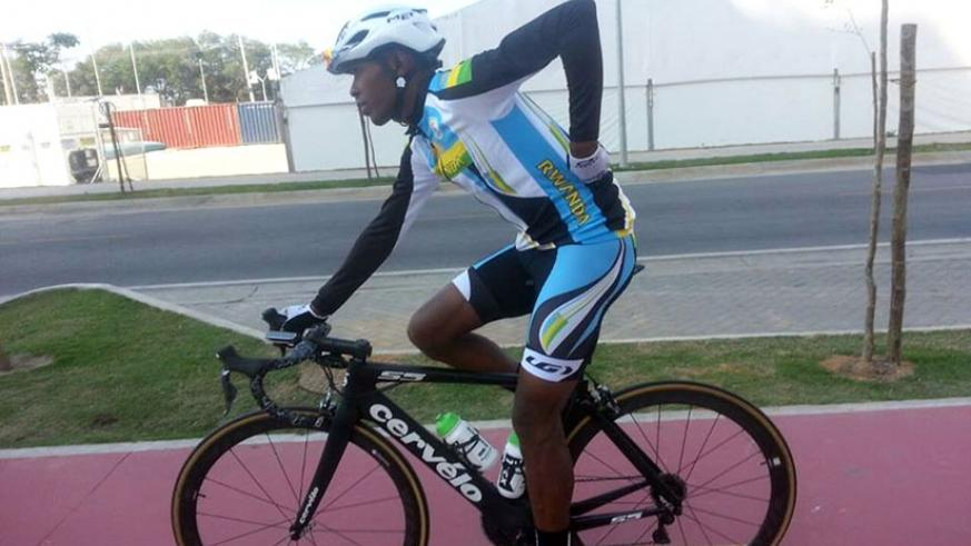 Niyonshuti pictured leaving the start line of the 236km race. He bowed out after 50 kilometres into the race on Saturday. / Courtesy.