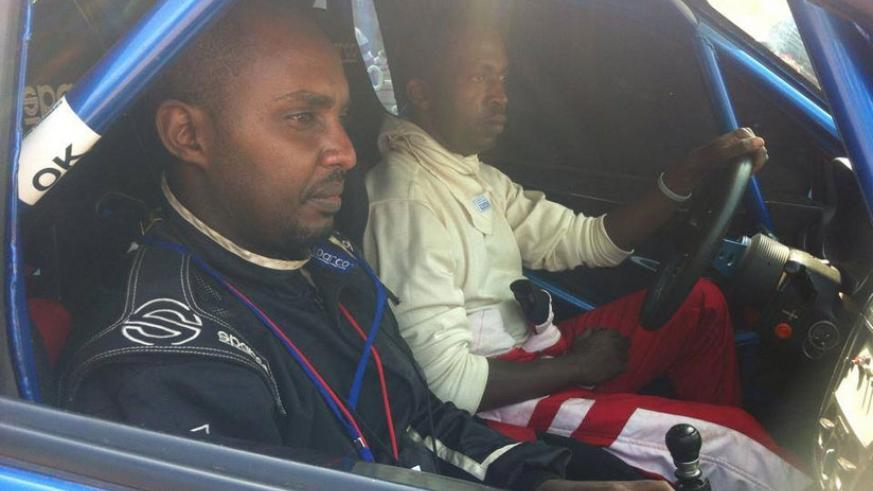 Jean Claude Gakwaya, in the drivers' seat, will go into this year's Rwanda Mt. Gorilla Rally seeking his first podium finish. (Courtesy)