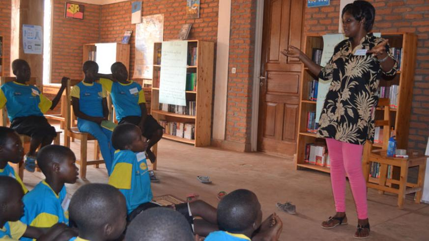 A teacher talks to students during a counseling session. Parents should also find time to guide their children outside school to make them better social beings. / Lydia Atieno.