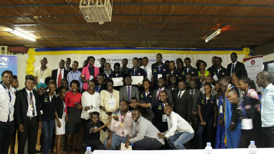 A group photo of the students who participated in the debating competition. / Christian Ituze.