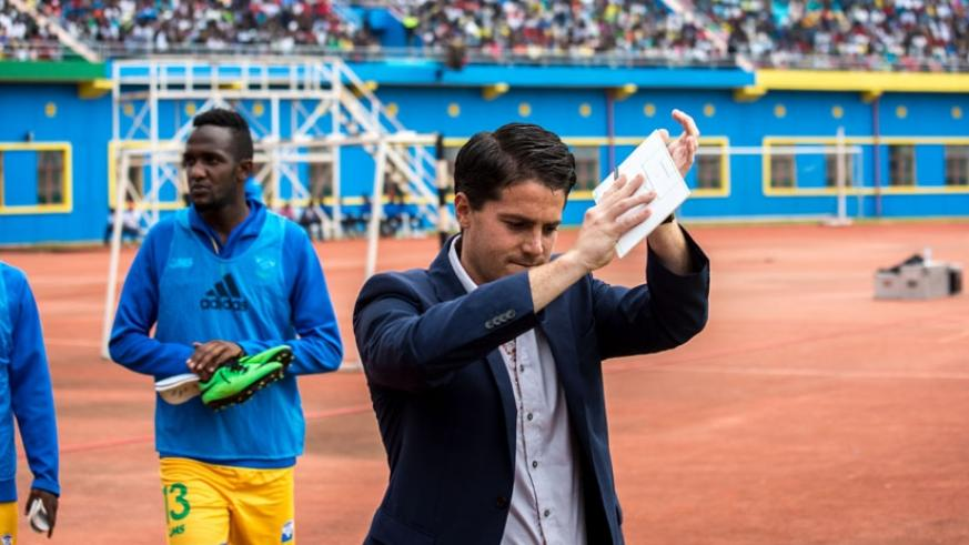 Johnny McKinstry was sacked on Thursday last week as Amavubi head coach, only four months into his new two-year contract. / Timothy Kisambira.