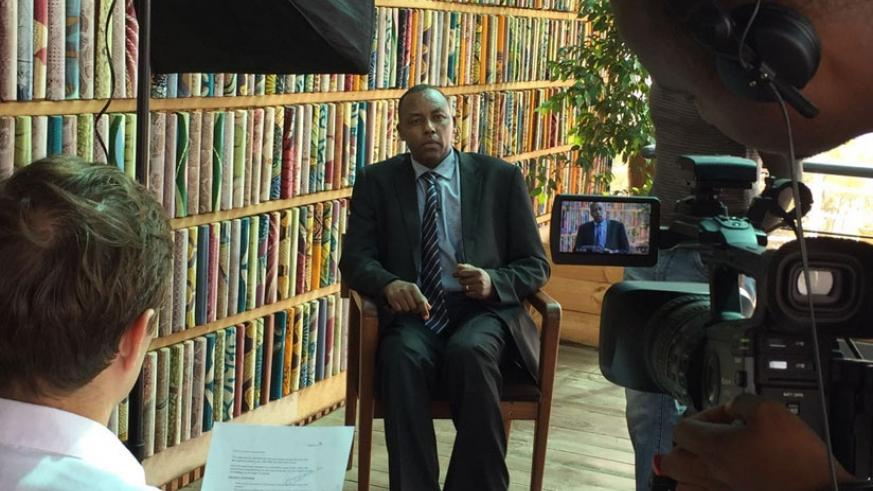 Kabenga during the interview. Governments must heighten public awareness if economies are to effectively push for green growth. (Courtesy.)