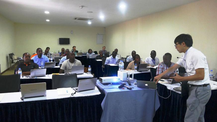 Education specialists follow proceedings during the training programme. / Courtesy photo.