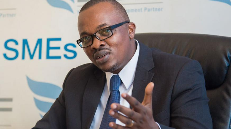 Bulindi speaks during the news conference  in Kigali, yesterday. (Photos by Faustin Niyigena)