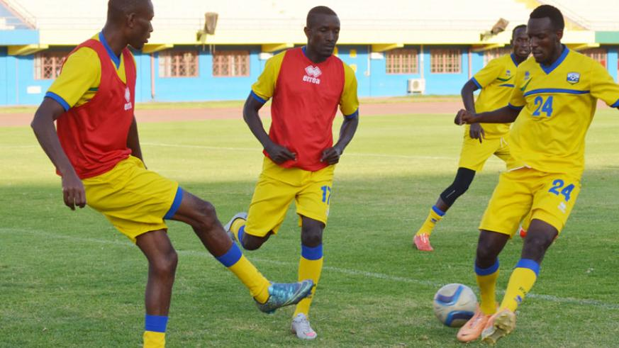 Amavubi will rely on the players' commitment and the experience of the likes of midfielder Jean-Baptiste Mugiraneza (left) going into today's clash against Ghana. / Sam Ngendahimana.