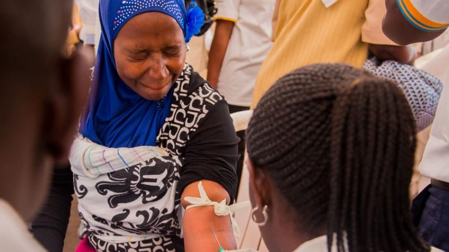 A patient takes a blood test. Governments have been urged to increase funding to achieve the 2030 Sustainable Development Goal of universal health coverage. / File.