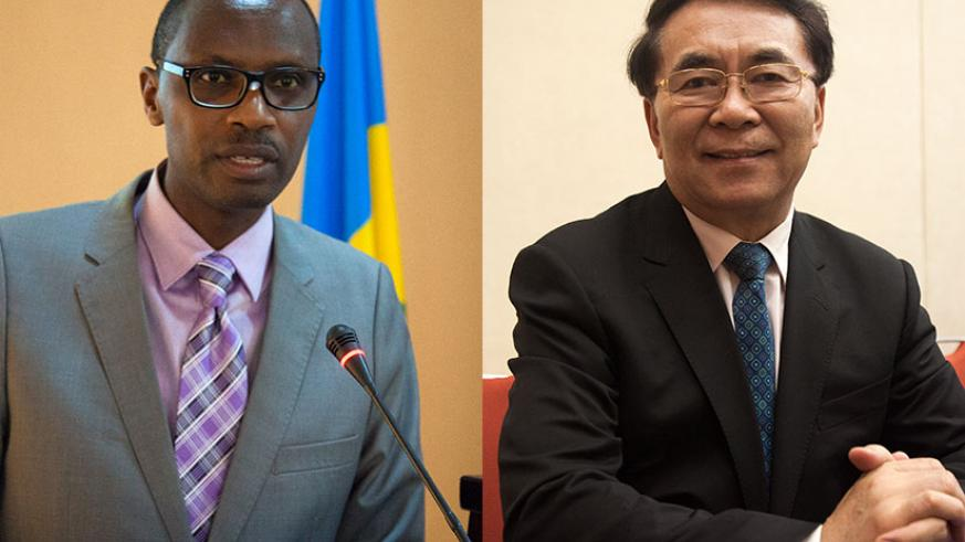 Education Minister Dr Papias Musafiri Malimba (L) says Rwanda has a lot to benefit from the meeting. | Bai Chunli (R), the President of The World Academy of Sciences (TWAS). / Nadege Imbabazi