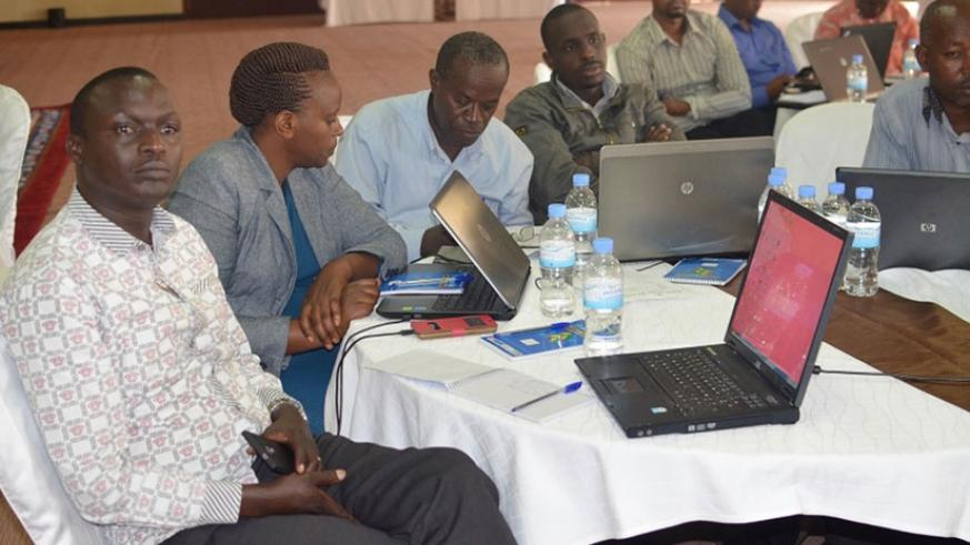 District planners and environment officers during the training last week. (Michel Nkurunziza.)