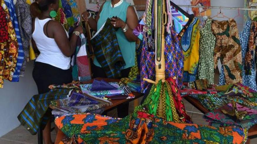 Some of the products under the Made-in-Rwanda initiative on display at a past expo. / File