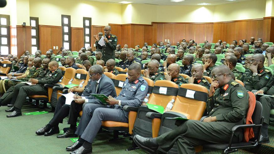 Members of Zigama Credit and Savings Society during a General Assembly at RDF headquarters yesterday. / Courtesy