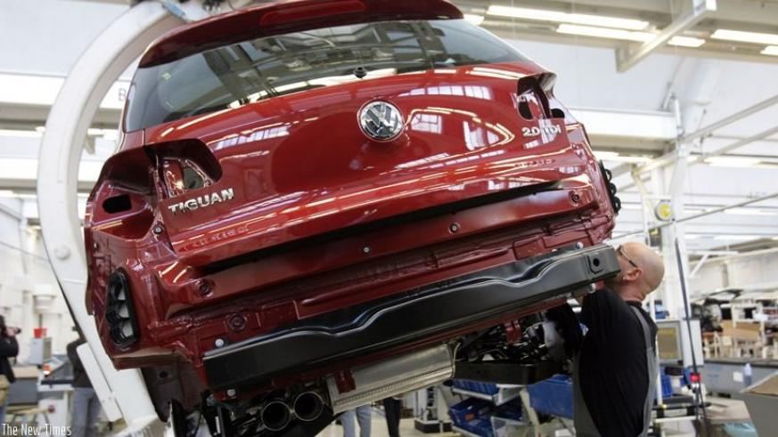 A Volkswagen Tiguan, one of the VW series in a manufacturing plant. The German carmaker will soon set up an assembly plant in Rwanda. Net photo