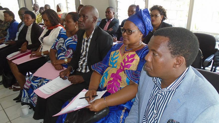Representatives of political organisations during the meeting on Wednesday. / Steven Muvunyi