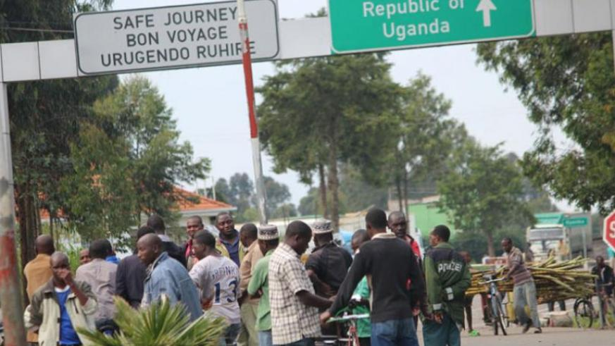 A busy Cyanika border. The Government will rehabilitate the road from Musanze to the border to ease cross-border trade at Cyanika. (File)