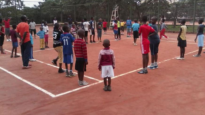 Holiday makers from various schools around the City of Kigali are taking part in several sports activities. / Jejje Muhinde