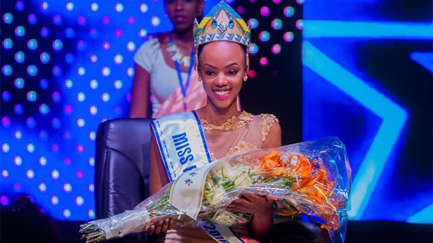 Jolly Mutesi, 20, was the first Miss Rwanda to take part in the Miss World pageant. / File