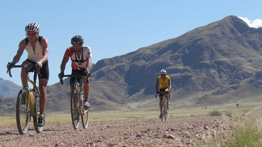 Jorg, Paul spencer and Paul Wolfe some of the riders who took part in expendition last year. Courtesy