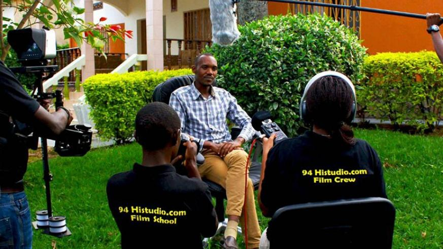 94Hi Film School students in a practical session at the film school. The school offers opportunities for aspiring filmmakers. Courtesy.