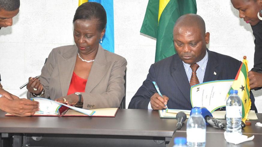 Rwanda's Foreign Affairs Minister Mushikiwabo and her counterpart, Urbino Botelho, signed two agreements: one on political and diplomatic consultations and another on expanded coop....