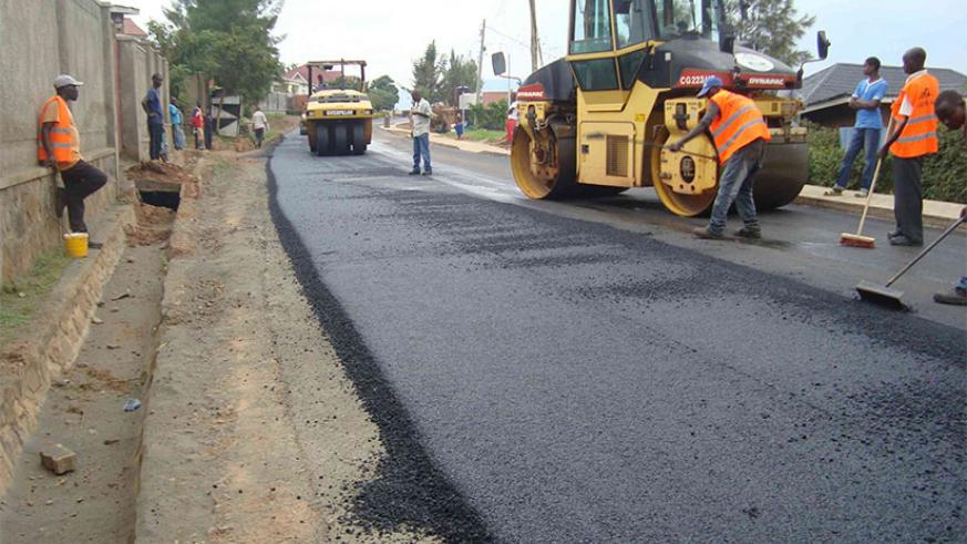 Road construction works in Kigali. / File