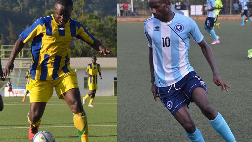 Michel Ndahinduka (L) will lead AS Kigali attacking line against Police FC, whose lead striker Dany Usengimana (R) will be seeking to add to his tally of 8 goals this season. S. Ngendahimana