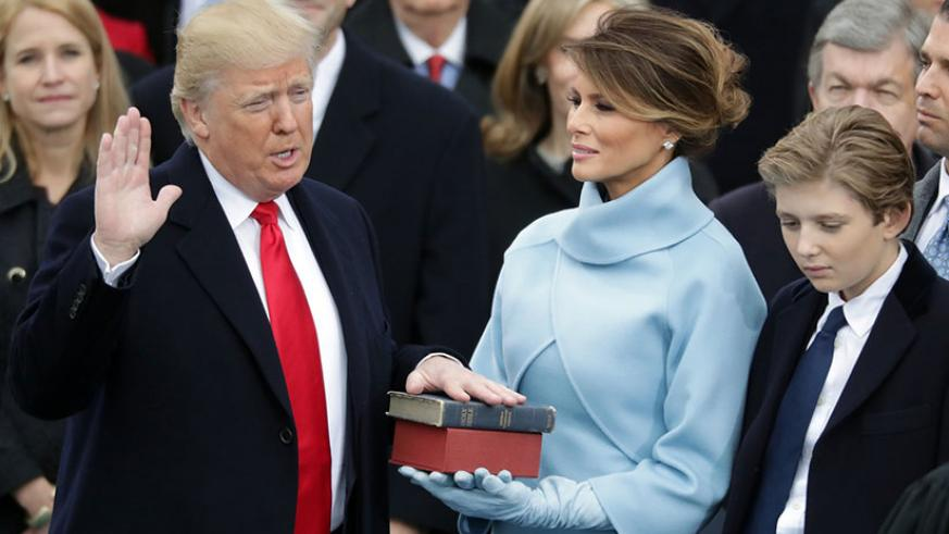 Donald Trump is sworn in as the 45th President of the United States / Photograph: Chip Somodevilla/Getty Images