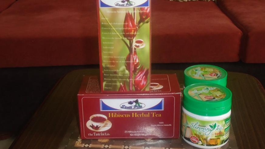 Hibiscus powder and slimming tea made naturally help in reducing fat metabolism. / Lydia Atieno