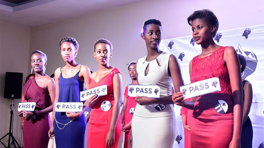 The five girls who were selected to represent the city of Kigali. / Photos: Julius Bizimungu